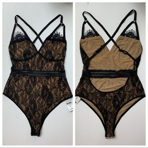 NWT LF Love Mar - sexy lace bodysuit - S - MSRP 98